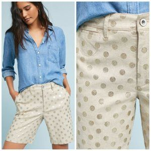 Anthropologie | NWT Polka Dot Bermuda Shorts